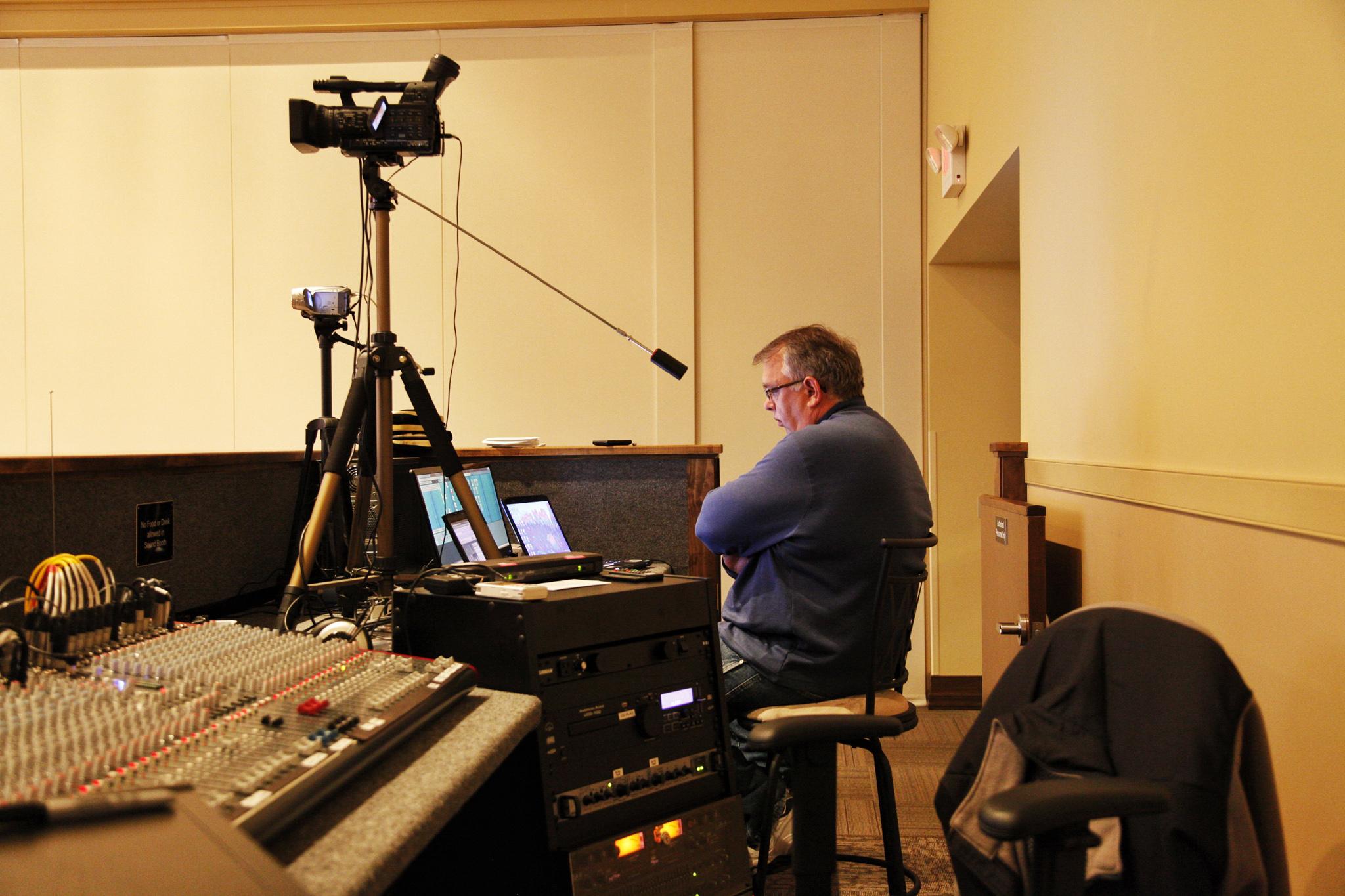Our videographer, Sylvan Creech